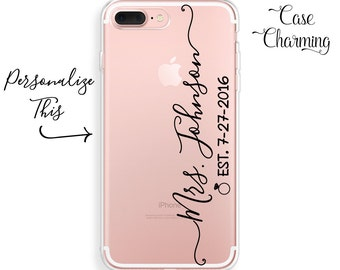 Mrs Phone Case Mrs iPhone Case Established iPhone 7 Case Bride iPhone 7 Plus Case iPhone 6 Case iPhone 6s Case iPhone 6 Plus Case iPhone SE