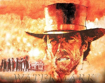 Pale Rider, Clint Eastwood, Spaghetti Western, Movie Poster, Art, Print, Photo, Decor, 8x10, 11x14 (JS0998)
