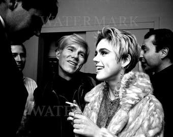 Andy Warhol and Edie Sedgwick - Andy Warhol Poster - Andy Warhol Print - Warhol - 8x10 - 11x14 - 16x20 - (TD0018)