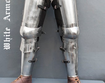 Leg combat  armor set , plate legs, cuisses with poleyns and greaves SCA LARP steel protection  medieval armor  SCA legs larp legs