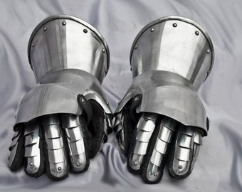 SCA LARP Steel Medieval Gloves