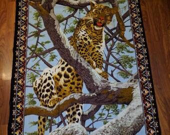 Vintage Jaguar print tapestry