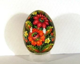 Petrykivka - hand made wooden egg