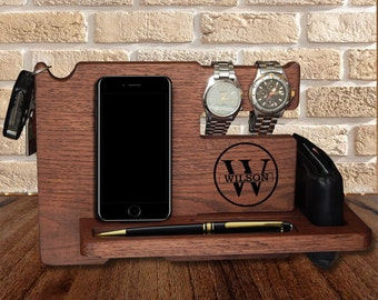 Docking Station, personalized,  Valentines day, iphone holder, Gift for Men,   iphone charging, stand iphone, iphone charging,