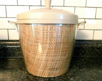 RAFFIAWARE insulated ice bucket 1960s