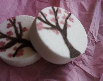 Handpainted Bath Truffle (Cherry Blossom Design)