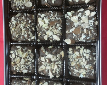 English Almond Toffee Chocolates with pick the title of your lid. Over forty lids to choose from! Gourmet Boxed Chocolates.