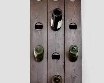 Wall mounted wine rack, Riddling rack.