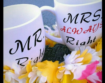 His and hers coffee cup set