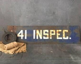 41 INSPEC metal sign