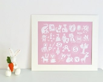 Mounted Alphabet Print