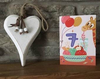 Seventh Birthday Card