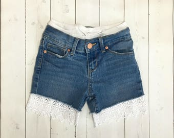Lace shorts extenders - girls shorts extenders - girls shorts - tween shorts extenders - girls clothing - tween clothing
