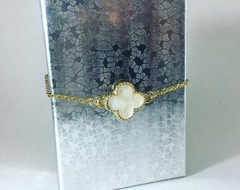 Adjustable Gold Plated Clover Bracelet