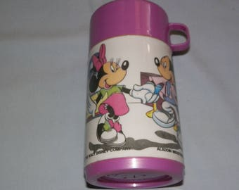 Vintage Mickey And Minnie Thermos