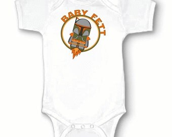 Baby Fett, Boba Fett, Bounty Hunter, Star Wars, The Force, Retro, Funny, Infant, Baby One-Piece Bodysuit, Creeper 0-3m 3-6m 6-9m 12m or 18m
