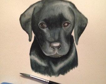 Labrador Puppy Original Watercolour