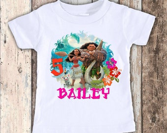 Moana 2 custom designed birthday t shirt tshirt personalized