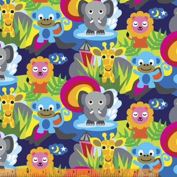 Jungle by french bull from windham fabrics quilting for Childrens jungle fabric