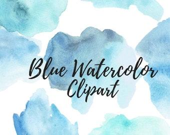 Paint Brush Clipart - Watercolor Clipart - Blog Clipart - Website Clipart - Brush Stroke Clipart - Watercolor Splashes