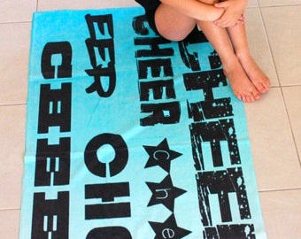 Cheer Beach Towel- Aqua ombre