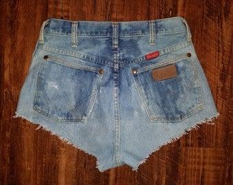 Reworked Vintage High Waist Wrangler Cutoff Shorts