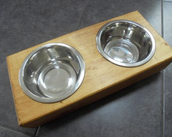 Dog Bowl, Cat Bowl, Animal Feeder Raised table, double bowl, raised dog bowl, dog bowls, wooden dog bowls, raised pet feeder