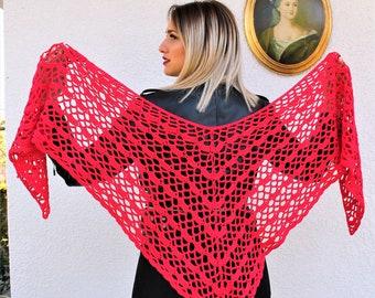 Triangle Shawl, Crochet Shawl, Wedding Shawl, Summer Shawl, Lace Shawl, Bridal Shawl, Scarf Shawl, Prayer Shawl, Crochet Shrug, Knit Shawl