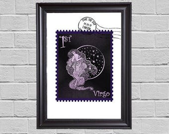 Virgo Zodiac - stamps