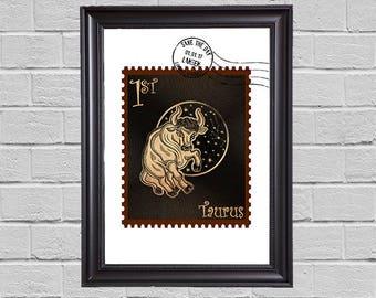 Taurus Zodiac - stamps