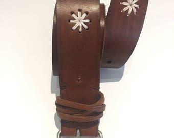 Leather belt handmade way SADDLER