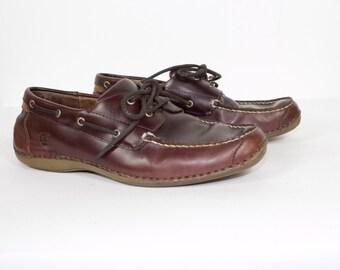 daniele lepori leather moccasins - boat shoes - slip on - mens 11. 5 / EU 45