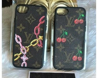 Hademade iPhone 7 Case Louis Vuitton Painted