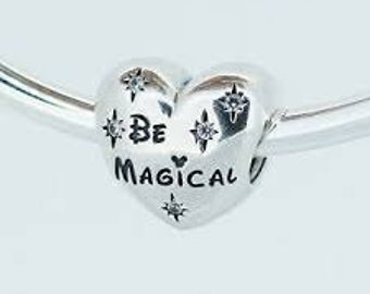Pandora Disney Parks Be Magical Minnie Mickey Charm Bead Authentic Pandora
