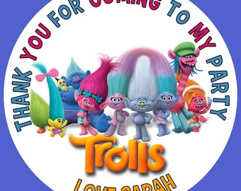"Personalized 3"" Troll stickers 3 designs to choose from"