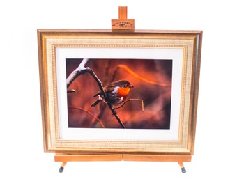 Robin A4 Print in Golden Frame