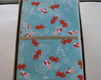 Goldfish Kingyo Japanese Handmade Washi Boxed Note Card Set