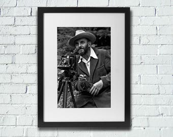 Ansel Adams Self Portrait, Fine Art Photography, Black and White Photography, Nature Photography, Ansel Adams
