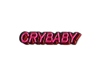 Crybaby Enamel Pin, Lapel Pin, Hat Pin, Brooch, Accessory