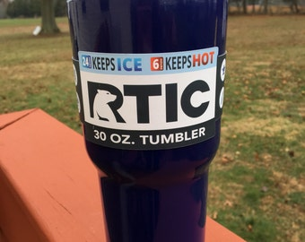 RTIC 30 oz Powder Coated Tumbler with Lid-Navy Blue