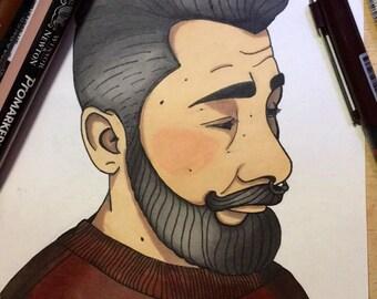 Drawing man.