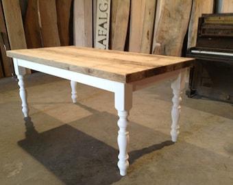 Farm house table rustic reclaimed pine dining table chunky style London
