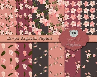 80% OFF! - Azalea 3 Digital Paper