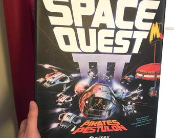 Space Quest 3 - Sierra Online - Box Art on canavs