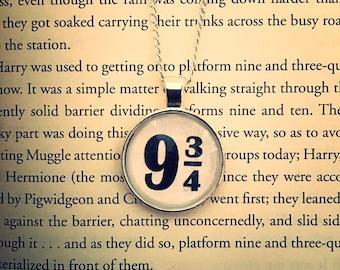 Platform Nine and Three Quarters 9 3/4 - Pendant and Necklace