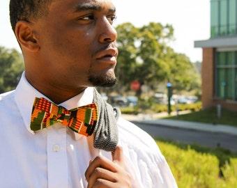 African Kente Bow Tie