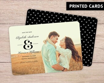 Save the Date Card,  Personalized, Custom Save the Dates, Save the Date, Save the Dates, printed Save the Date card, Modern Dots