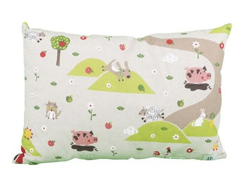 Pillow rectangle Bauer landscape kids animals