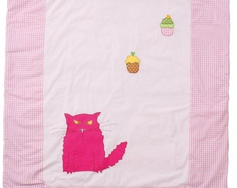 "DogsLoveCats baby blanket ""Mizzy"" makes your child happy."