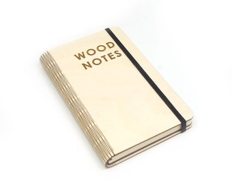 Wooden notebook laser cut 'Wood notes'